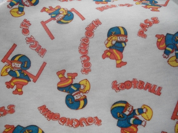 Primary image for Football Novelty Cotton Knit Fabric