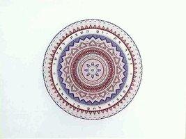 Judaica Challah Tray Cutting Board Reinforced Glass Shabbat Colorful Mandala