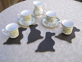 Sitting spaniel dog shaped coasters set of 4, English Springer Cocker Field - $7.00