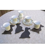 Sitting spaniel dog shaped coasters set of 4, E... - $7.00