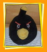 "Angry Birds Black Bird Bomb 5"" Plush No Sound Wants Peaceful Quiet Home - $7.77"