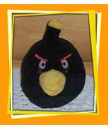 """Angry Birds Black Bird Bomb 5"""" Plush No Sound Wants Peaceful Quiet Home - $7.77"""