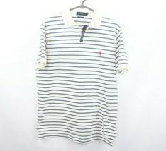 New Polo Ralph Lauren Mens Large Custom Fit Striped Short Sleeve Polo Shirt - $49.45