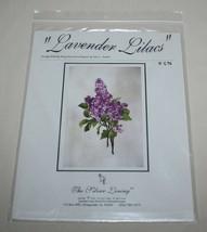 Lavender Lilacs Charted Cross Stitch Pattern SL156 Silver Lining 2004 Fl... - $11.39