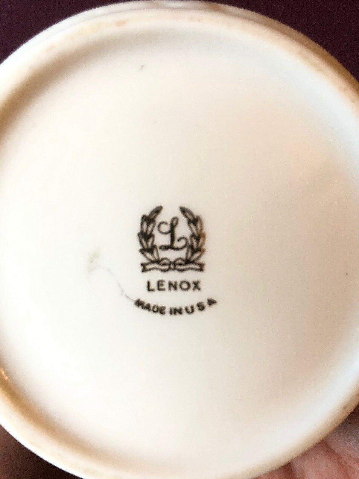 Lenox Bone Vase  Flared  On Top