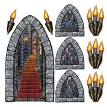 Stairway, Window & Torch Props Party Accessory (1 count) (9/Pkg) - €7,11 EUR