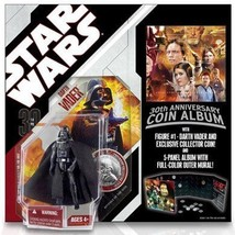 STAR WARS 30th ANNIVERSARY DARTH VADER w/ SILVER COIN REVENGE OF THE SITH - $19.79