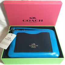 Coach Boxed Corner Zip Wristlet Colorblock Smooth Calf Leather 65990B - $43.55