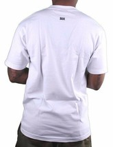 In4mation Mens White Go FUC$ Yourself Smiley Skateboarding Middle Finger T-Shirt image 2
