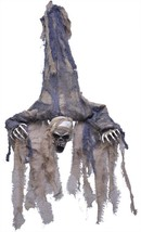 Ghoul Prop Hanging Upside Down Skeleton Open Mouth Halloween Haunted Hou... - $39.99