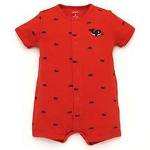 Carter's Boys' Whale Print Creeper, Orange, Size 6 Months - $9.89