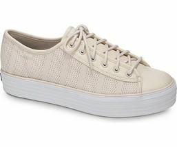 Keds WF58058 Women's Triple Kick Striped Mesh Peony Pink Shoes, 9 Med - £24.02 GBP