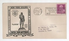 1948 NY Golden Jubilee Peter Stuyvestant Cover! Federal Hall Postmark Ca... - $4.99