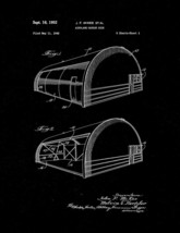 Airplane Hangar Door Patent Print - Black Matte - $7.95+