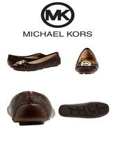 MICHAEL Michael Kors Fulton Moccasin Leather Shoes Brown - $83.22