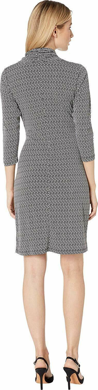 Karen Kane Women's 3/4 Sleeve Cascade Wrap Dress image 3