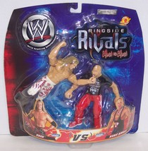 "2002 Jakk's WWE Rigside Rivals ""Edge"" vs ""Kurt Angle"" Action Figure Set ... - $32.66"