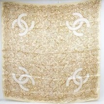 CHANEL Scarf Stole Shawl Silk 100% Coco mark Logo Pattern Women Luxury A... - $350.31
