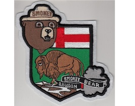 Smokey Bear Balloon over Manitoba US Forest Service USFS & NPS Patch 6in - $11.99