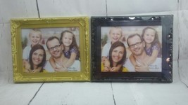 New Picture Frame Set of 2 Black and Gold 10in by 8in (25cm × 20cm) - £12.36 GBP