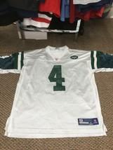 New York Jets Brett Favre White Reebok Jersey XL Good Condition - $24.74