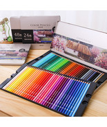 Color Pencil Iron Box Pastel Coloring Pen Advanced Drawing Sketch Colore... - $29.99+
