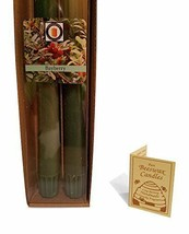 """100 Percent  Pure Beeswax 10"""" Colonial Taper Candle Pair, Bayberry Scent, Tapers - £8.47 GBP"""