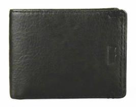 NEW LEVI'S MEN'S PREMIUM LEATHER CREDIT CARD ID WALLET BILLFOLD BLACK 31LV13C7 image 2