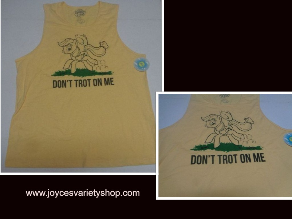 Primary image for My Little Pony Tank Work Out Muscle Shirt NWT Yellow Apple Jack Adult XXL, L