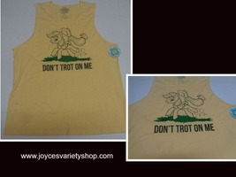 My Little Pony Tank Work Out Muscle Shirt NWT Yellow Apple Jack Adult XX... - $9.99