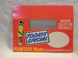 Vintage 1970's Planters Peanut Mr Peanut Todays Special Cardboard Sm She... - $5.95