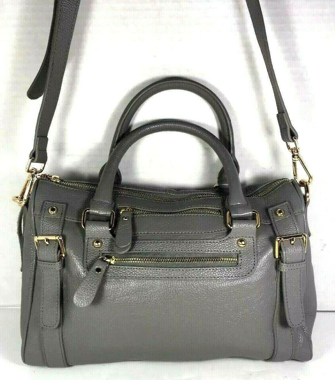 Erica Anenberg Grey Leather Cross Body Satchel Shoulder Bag