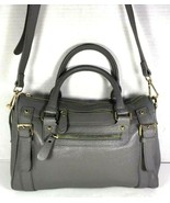 Erica Anenberg Grey Leather Cross Body Satchel Shoulder Bag - $63.04