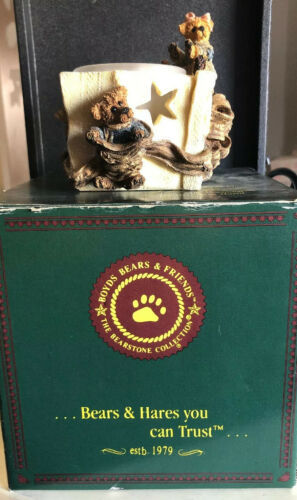 "Primary image for ""Bailey And Marhew""The Gift Boyds Bears Bearstone Votive Candle Holder"