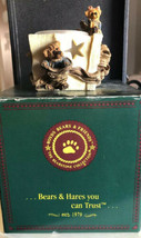 """Bailey And Marhew""The Gift Boyds Bears Bearstone Votive Candle Holder - $4.94"