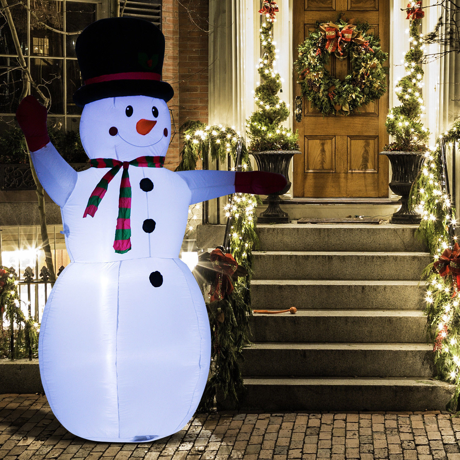 """8"""" Inflatable Christmas Snowman Airblown Holiday Yard ..."""