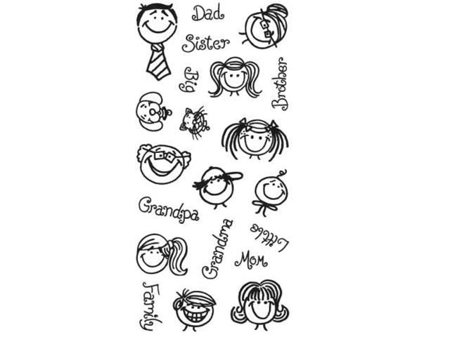 Fiskars Happy and You Know It Clear Cling Stamp Set #28351