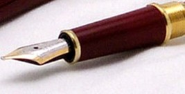 Parts Replacement spare Pen Nib Gold Trim Montblanc for 144 Red Fountain... - $91.88
