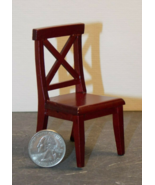 1 Pcs Dollhouse Miniature Wood Cross Buck Chair Kitchen 1:12 inch scale ... - $36.00