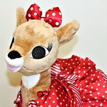 """Build A Bear Clarice Rudolph The Red Nose Reindeer Dress & Ruby Shoes 15"""" Heart - $45.00"""