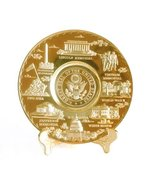 Washington D.C. Metal Souvenir Plate with Great Seal of America (Gold, 6... - $19.99