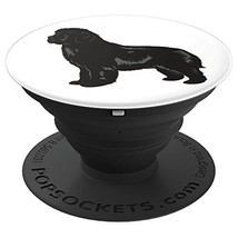 Newfoundland Dog Animal Dogs Breed Pop Socket - PopSockets Grip and (Black) - $28.95 CAD