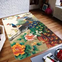 3D Peony Peacock 105 Non Slip Rug Mat Room Mat Quality Elegant Carpet UK Cobb - $106.68+