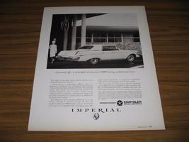 1963 Print Ad Chrysler Imperial LeBaron 4-Door Happy Couple - $13.96