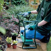 Folding stainless steel garden stool with tool bag - £58.17 GBP