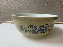 Vintage Pyrex HOMESTEAD w Blue Cinderella Mixing Serving Bowl 2.5 Quart ... - $12.16