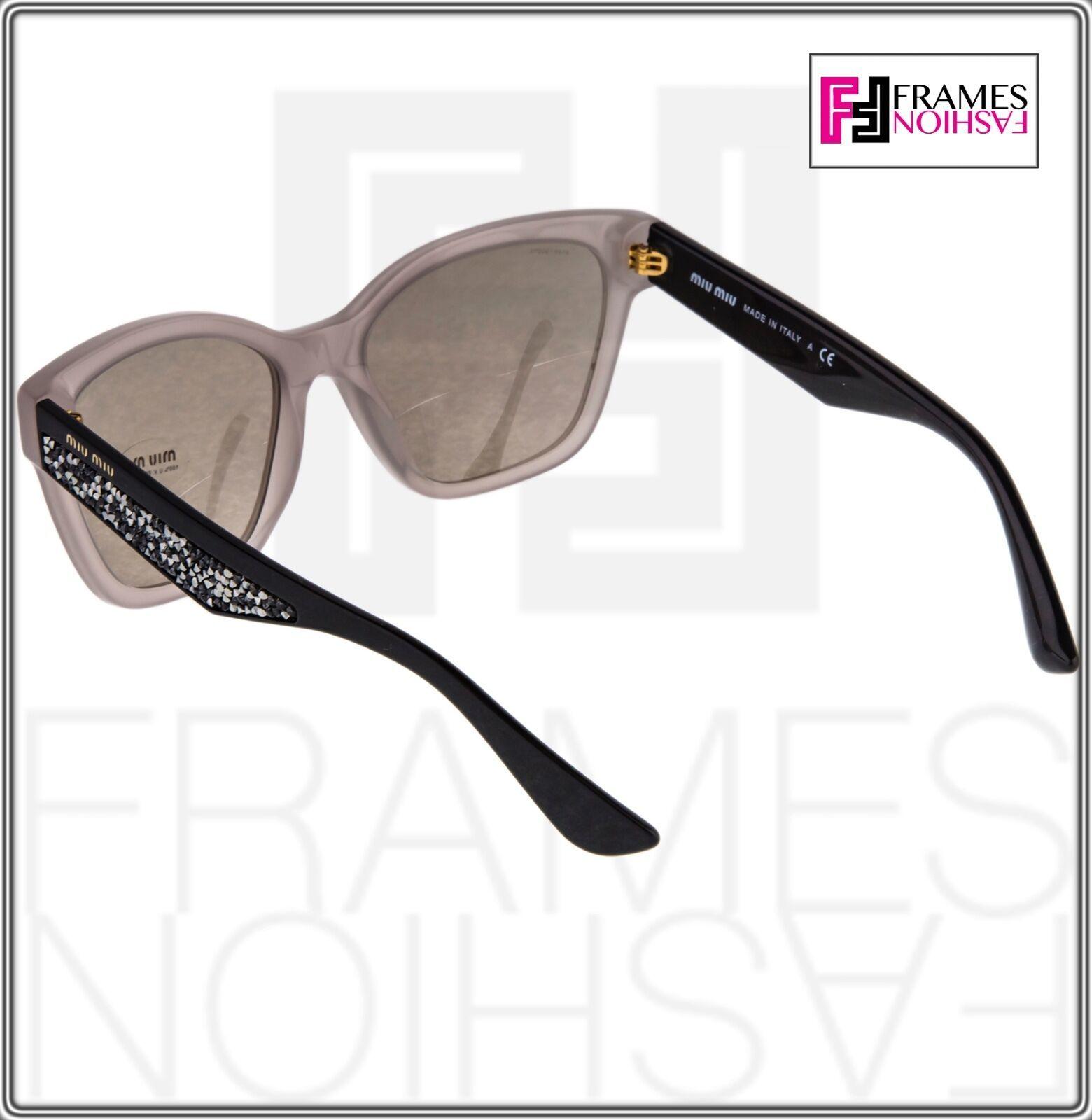 MIU MIU PAVE EVOLUTION MU 06R Square Black Rock Opal Argil Sunglasses MU06RS image 5