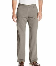 Lee Men's Weekend Chino Straight Fit Flat Front Pant 40X32 COLOR SAGE - $18.05