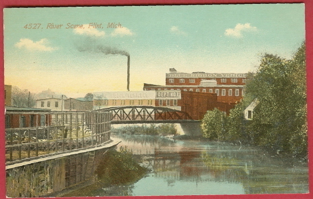 Flint mi river scene