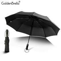 GoldenBrella® Big Wind Resistance Umbrella Men Women High Quality Automatic - $28.81